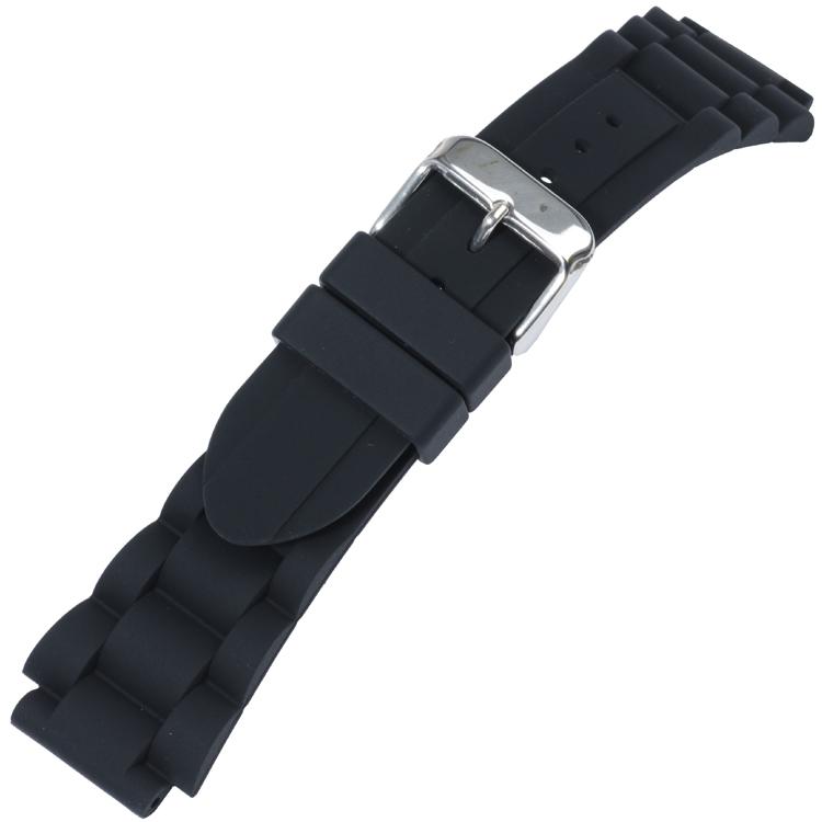 Silikon Glieder-Uhrenarmband Schwarz Typ 1