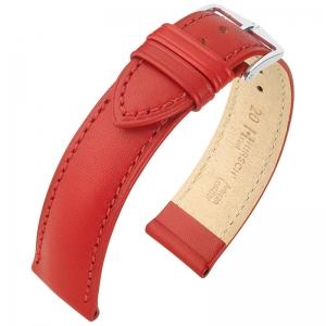 Hirsch Kent Artisan Uhrenarmband Italienisches Kalbsleder Rot