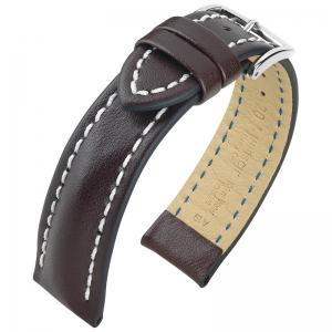 Hirsch Heavy Calf Uhrenarmband Water Resistant Dunkelbraun