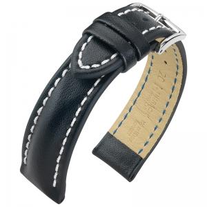Hirsch Heavy Calf Uhrenarmband Water Resistant Schwarz