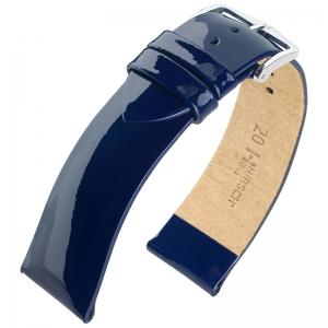 Hirsch Diva Uhrenarmband Lackleder Kalbsleder Blau