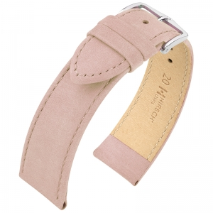 Hirsch Osiris Uhrenarmband Nubuk Rose - Limited Edition
