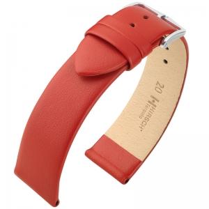 Hirsch Toronto Uhrenarmband Italienisches Kalbsleder Rot
