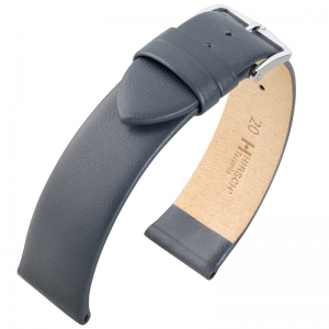 Hirsch Toronto Uhrenarmband Italienisches Kalbsleder Grau