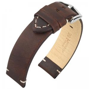 Hirsch Ranger Uhrenarmband Kalbsleder Dunkelbraun