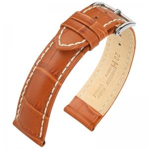 Hirsch Modena Uhrenarmband Alligatorgrain Honig