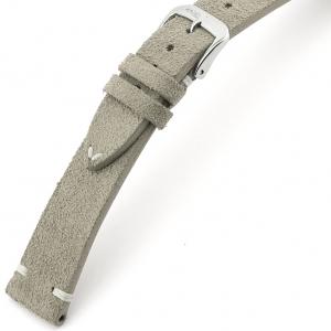 Rios Hudson Uhrenarmband Wildleder Grau