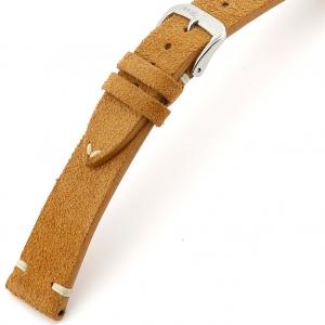 Rios Hudson Uhrenarmband Wildleder Cognac