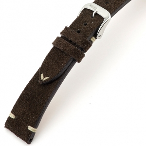 Rios Hudson Uhrenarmband Wildleder Mokka