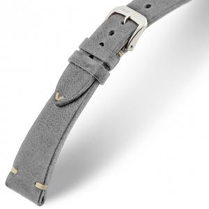Rios Bedford Uhrenarmband Vintage Leder Grau