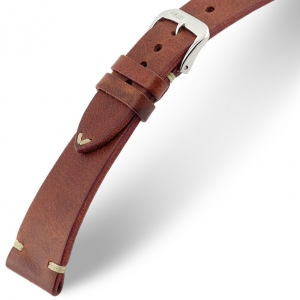 Rios Bedford Uhrenarmband Vintage Leder Mahagoni
