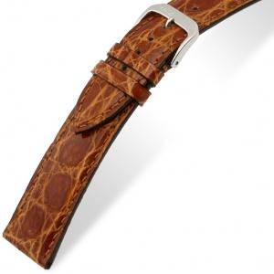 Rios Lord Uhrenarmband Krokodilleder Honig