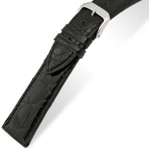 Rios Lord Uhrenarmband Krokodilleder Schwarz