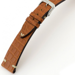 Rios Royal Uhrenarmband Alligatorleder Cognac