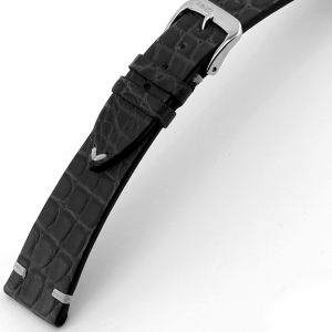 Rios Royal Uhrenarmband Alligatorleder Schwarz