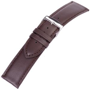 Braunes Uhrenarmband Kroko-Kalb Glänzend Flach