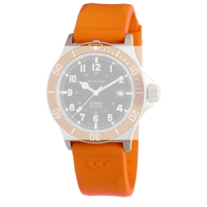 Glycine Combat Sub 3863 Uhrenarmband Orange Kautschuk - 22mm