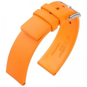 Hirsch Pure Uhrenarmband Premium Kautschuk Orange