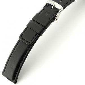 Rios Solid Uhrenarmband Rindsleder Schwarz