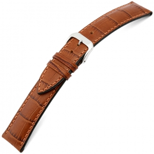 Rios Louisiana Alligator Uhrenarmband Rindsleder Cognac