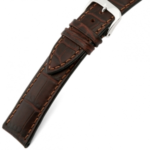 Rios Louisiana Alligator Uhrenarmband Rindsleder Braun