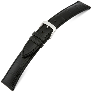 Rios Louisiana Alligator Uhrenarmband Rindsleder Schwarz