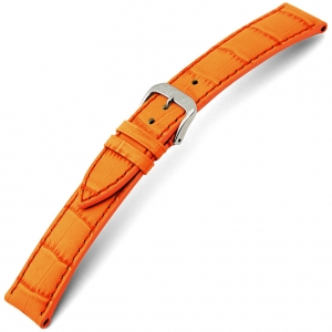 Rios Louisiana Alligator Uhrenarmband Rindsleder Orange