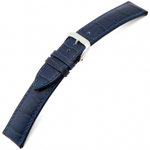 Rios Louisiana Alligator Uhrenarmband Rindsleder Blau