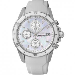 Seiko Sportura Uhrenarmband SNDX57P1 Gummi Weiss