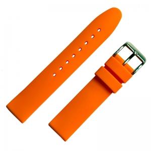 Gummi Uhrenarmband Orange Glatt 18mm