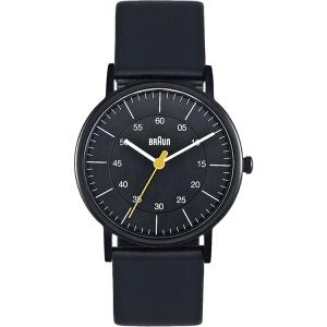 Braun Uhrenarmband für Typ BN0011BKBKL Leder Schwarz