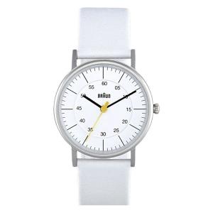 Braun Uhrenarmband für Typ BN0011WHWHL Leder Weiss