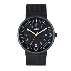 Braun BN0082BKBKMHG Uhrenarmband Mesh (Milainese) Schwarz