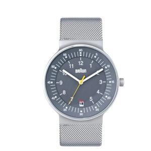 Braun BN0082GYSLMHG Uhrenarmband Mesh (Milainese)