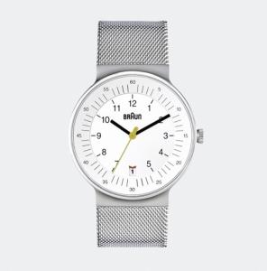 Braun BN0082WHSLMHG Uhrenarmband Mesh (Milainese) Silber