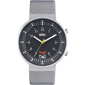 Braun BN0087GYSLMHG Uhrenarmband Mesh (Milainese) Silber