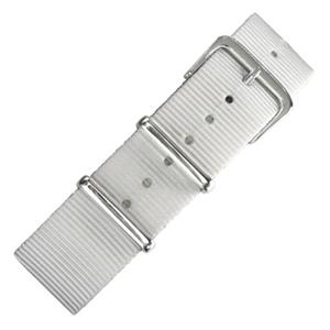 Weisses NATO Uhrenarmband Nylon - SS