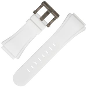 TW Steel Uhrenarmband CE5002 Weiss Gummi 30mm