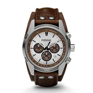Fossil CH2565 Uhrenarmband Leder Braun