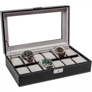 La Royale Classico 12 Uhrenbox mit Fenster - 12 Uhren