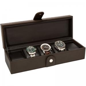 La Royale Classico 5 Uhrenbox Braun - 5 Uhren