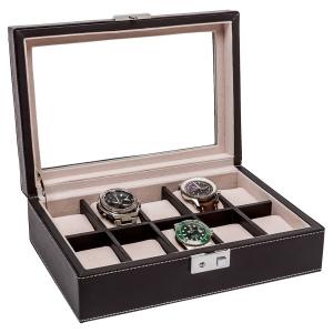 La Royale Duro Uhrenbox mit Fenster - 10 Uhren