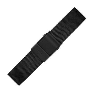 Daniel Wellington 14mm Petite Ashfield Mesh Uhrenarmband Schwarz