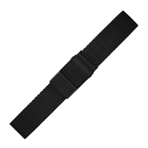 Daniel Wellington 12mm Petite Ashfield Mesh Uhrenarmband Schwarz