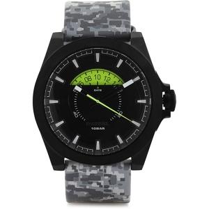 Diesel DZ1658 Uhrenarmband Leder Grau