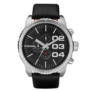 Diesel DZ4208 Uhrenarmband Leder Schwarz