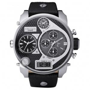 Diesel DZ7125 Uhrenarmband Leder Schwarz