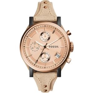 Fossil ES3786 Uhrenarmband Leder Beige