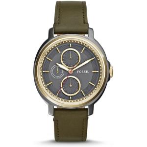 Fossil ES3833 Uhrenarmband Leder Grün