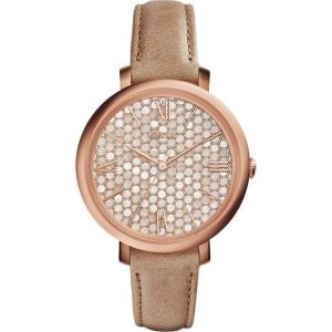 Fossil ES3866 Uhrenarmband Leder Beige